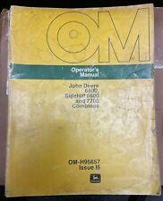 John Deere 6600 Sidehill 6600 Amp 7700 Combines Operator Manual Om H95657 I6 X 2