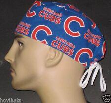 CHICAGO CUBS NEWEST ALL OVER LOGOS SCRUB HAT MLB  / FREE  CUSTOM SIZING!
