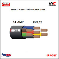 10M 4MM 7 CORE WIRE CABLE TRAILER AUTOMOTIVE BOAT CARAVAN COIL V90 PVC INSULATED