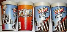 (4-Pack) Superbowl XLVI 2012 Indianapolis Commorative Cups Giants Patriots NFL