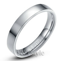 TTstyle Stainless Steel Comfort fit Wedding Band Ring 3mm-8mm Size 5-15