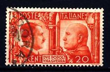ITALIA - Regno - 1941 - Fratellanza d'armi italo-tedesca - Ritratti - 20 c.