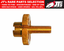 Cable Adjuster for handlebar lever clamp - Alloy Gold 8mm thread 814979