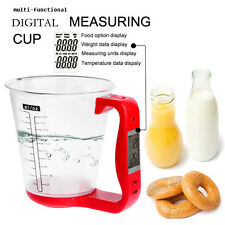 All in One Digital Measuring Cup Scale w/ LCD Display Weight & Temperature Red