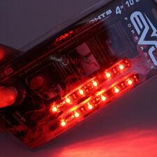 "2x 4"" 10cm Red Bright LED Flexible 12V Car Headlight Waterproof Light Strips"