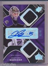 07/08 SPx Spectrum Auto Jersey Jonathan Bernier Rookie Toronto Maple Leafs #d/25