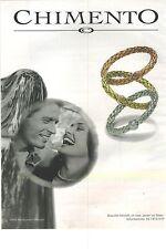 PUBLICITE 2000  CHIMENTO bijoux bracelets par ELIOTT ERWITT