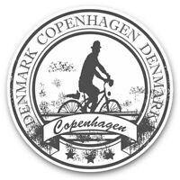 2 x Vinyl Stickers 10cm (bw) - Copenhagen Denmark Danish Travel  #40436