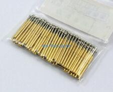 100 Pieces P75-E2 Dia 1.02mm Spring Test Probe Pogo Pin