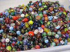 4 Pounds Assorted India Handmade Fancy Glass Beads Bulk Close Out Mix (RDT-33)