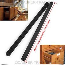 24 Pairs Plastic Drawer Runners Kitchen Bedroom Cabinet Guide Rails 17MM Grooved