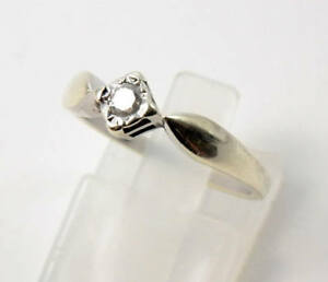 Fine 9ct White Gold & Diamond Solitaire Engagement Ring