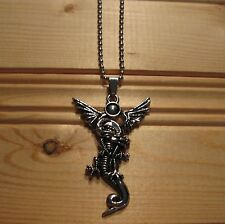 Dragon stainless steel pendant & necklace