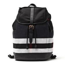 Burberry Drifton House Men's Black and White Check Canvas/Leather Backpack
