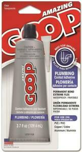 NEW GOOP 150012 3.7OZ PLUMBER AMAZING GLUE ADHESIVE CLEAR SEALANT 6888101