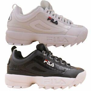 Fila Men's Disruptor 2 II Premium No Sew Heritage Fashion Sneakers Casual Shoes