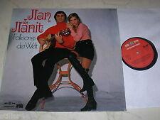 JLAN & JLANIT Folksongs der Welt *RARE 70s FOLK SCHLAGER LP*