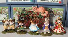 NEW Wee Forest Folk Alice in Wonderland -6 PCSET - Ltd Ed Rabbit Queen Cat Mad