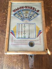 "ANTIQUE 1935 ""WAGON - WHEELS"" TRADE STIMULATOR by A.B.T. MFG. CO. THAT WORKS !!!"