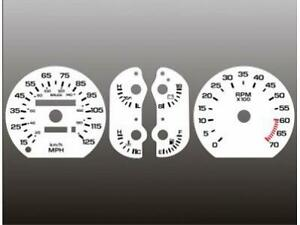 1987-1989 Dodge Daytona Lebaron Dash Cluster White Face Gauges 87-89