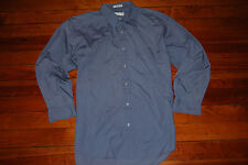 Men's GIVENCHY Gray Blue Button Long Sleeve Shirt (Large, 16.5 32/33)
