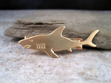 Handmade Steampunk Brass Nautical Shark Tie Clip Tie Bar