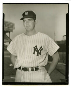 "1950s Original 4""x5"" B&W Type 1 contact print photo - Don Larsen - 1956 Topps+"