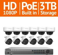 LaView 16 Channel Full HD Indoor/Outdoor Surveillance System 1080P Cameras View