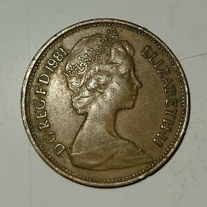 """RARE 1981 """"NEW PENCE"""" 2P COIN LAST BATCH PRIOR TO """"TWO PENCE"""""""