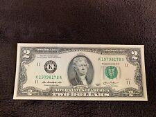 Fancy Serial US $2 Dollar Bill Number Birthday Note 4 Pairs! 19798178 Date 1979