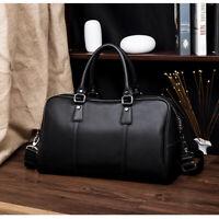 New Large Men Business Leather Laptop Bag Briefcase Travel Luggage Handbag