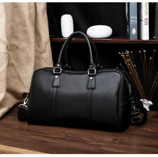 New Large Men Business Leather Laptop Bag Briefcase Travel Luggage Handbag