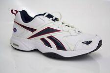 NWOB Mens Reebok Shoes Size 7 NFL Rams White/Blue/Gold DMXRIDE