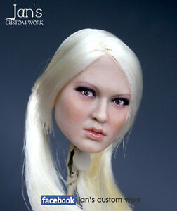 1/6 Hot CUSTOM REPAINT toys Babydoll Emily Browning figure head sculpt female