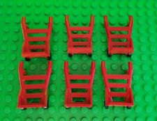 LEGO Minifigure Hand Truck Cart red Dolly Accessories LOT x6 City