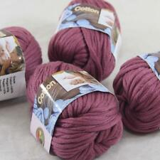 AIP Sale 4 Balls x50gr Super Soft Pure Cotton Chunky Shawl Hand Knitting Yarn 35