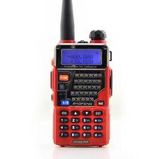 BaoFeng UV-5RE+ Red UHF VHF Dual Band  Handheld Ham Two way Radio Walkie Talkie