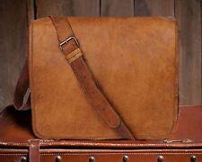 "18"" laptop briefcase men s satchel handbag men's vintage genuine business bags"