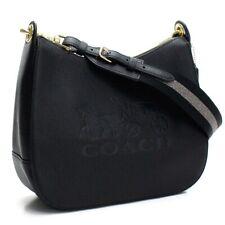 Coach Jes Hobo Embossed Leather Bag - Black