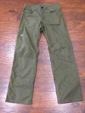 Arc'teryx Men's 34 X 35 Casual Hiking / Dress Pants - Solid Olive Green