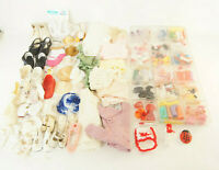 Huge Vintage Lot of Doll Accessories - Clothes Shoes Hats & More 100's of Pieces