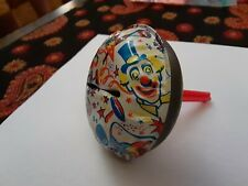 Vintage 1950s Halloween / New Years Eve Tin Noisemaker with Clowns