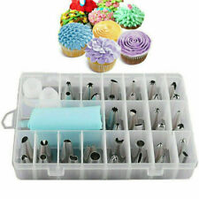 24X Nozzle+ Silicone Icing Piping Cream Pastry Bag Set Cake Decorating Tool Gift