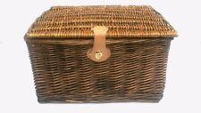 Strong Pine Wicker Picnic Gift Storage Xmas Christmas Empty Hamper Basket Medium 35 X 28 X 18 Cm