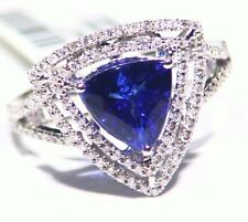 2.93CT 14K Gold Natural Tanzanite Diamond Vintage AAA Antique Engagement Ring