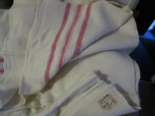 "Pink Stripy Classic Wool Blend Blanket/Throw-Witney Witnedown  -72""x 90""-VINTAGE"