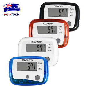 LCD Clip On Pedometer Step Walking Distance Calorie Counter Jogging Running AL