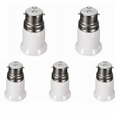 5X Bayonet B22 To ES E27 Screw Light Bulb Lamp Adaptor Fitting Converter Holder