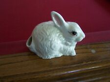Vintage Rabbit Potpourri Holder - White/with Pink Eyes - Too Cute