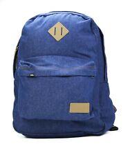 New Vans X Wrangler Denim Backpack Dark Indigo Book Bag Rucksack Off The Wall
